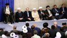 حضور دریابان علی شمخانی در مراسم افطار مقام معظم رهبری