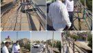 ترمیم و نصب نرده و حفاظ و ایمن سازی پل راهنمایی و رانندگی در بلوار انقلاب